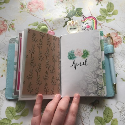 Other April notebook, using it for practicing my hand lettering