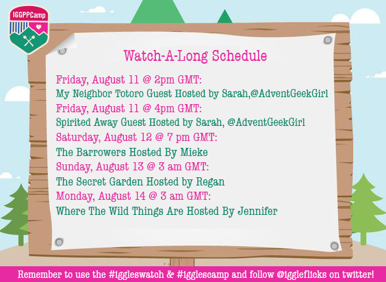 iggleflicks watch a long schedual for camp